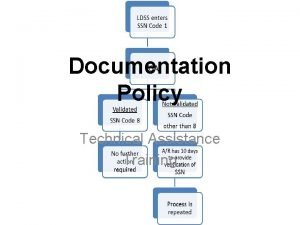 Documentation Policy Technical Assistance Training Documentation ARs Responsibilities