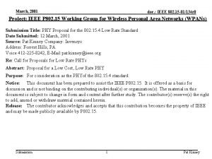 March 2001 doc IEEE 802 15 01134 r