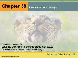 Chapter 38 Conservation Biology Power Point Lectures for
