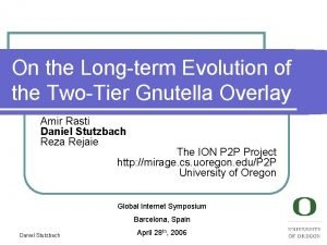 On the Longterm Evolution of the TwoTier Gnutella