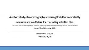 A cohort study of mammography screening finds that