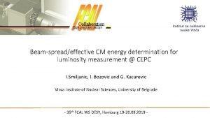 Beamspreadeffective CM energy determination for luminosity measurement CEPC