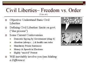 Civil Liberties Freedom vs Order Video 1 o