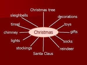 Christmas tree sleighbells decorations tinsel chimney toys Christmas