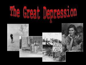 1929 1939 Stock market crash ED Nobody realized