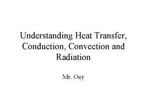 Understanding Heat Transfer Conduction Convection and Radiation Mr