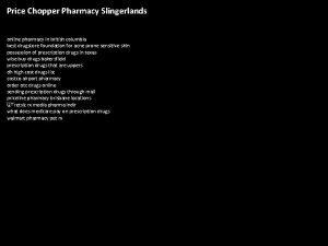 Price Chopper Pharmacy Slingerlands online pharmacy in british
