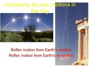 Astronomy by eye motions in the Sky Reflex
