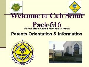 Welcome to Cub Scout Pack 516 Sponsored By