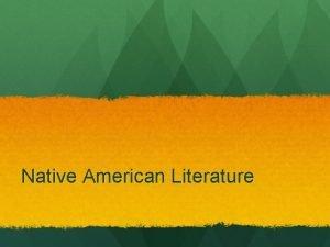 Native American Literature The Sun Still Rises in