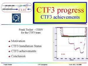 CTF 3 progress CTF 3 achievements Frank Tecker