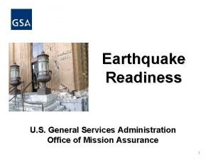 Earthquake Readiness U S General Services Administration Office