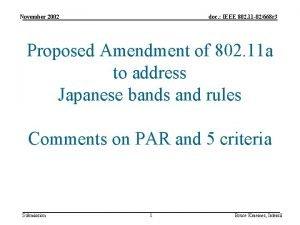 November 2002 doc IEEE 802 11 02668 r