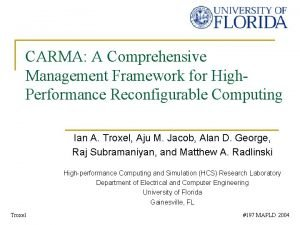 CARMA A Comprehensive Management Framework for High Performance