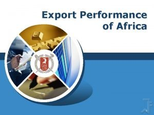 Export Performance of Africa LOGO 1 Africa continent
