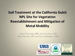 Soil Treatment at the California Gulch NPL Site