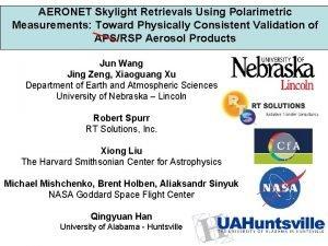 AERONET Skylight Retrievals Using Polarimetric Measurements Toward Physically
