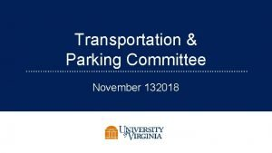 Transportation Parking Committee November 132018 1 Committee Resources
