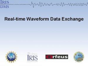 Realtime Waveform Data Exchange Realtime Data Exchange Allows