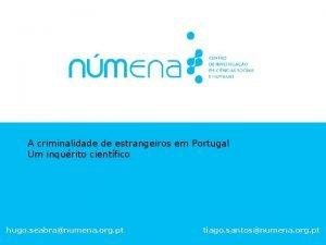 A criminalidade de estrangeiros em Portugal Um inqurito