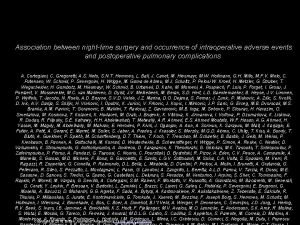 Association between nighttime surgery and occurrence of intraoperative