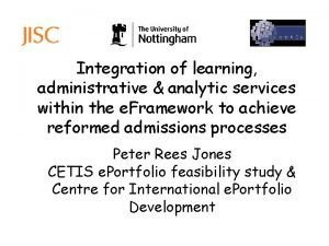 Integration of learning administrative analytic services within the