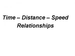 Time Distance Speed Relationships distance speed 40 mph