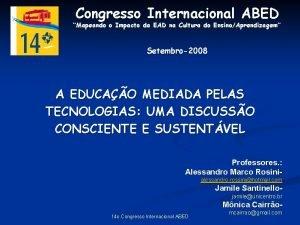 Congresso Internacional ABED Mapeando o Impacto da EAD