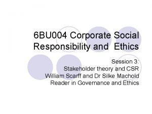 6 BU 004 Corporate Social Responsibility and Ethics
