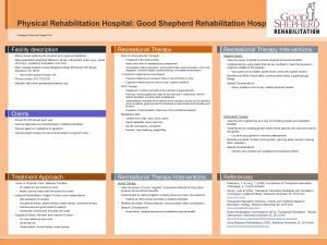 Physical Rehabilitation Hospital Good Shepherd Rehabilitation Hospital Francesco