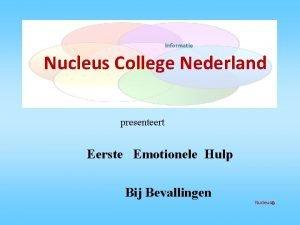 Informatie Nucleus College Nederland presenteert Eerste Emotionele Hulp