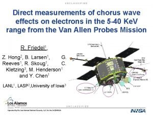 UNCLASSIFIED Direct measurements of chorus wave effects on