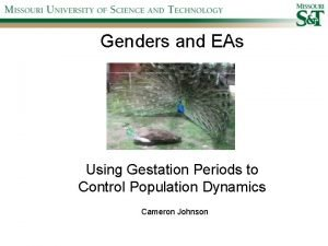 Genders and EAs Using Gestation Periods to Control