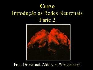 Curso Introduo s Redes Neuronais Parte 2 Prof