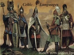 Celtic Languages Student 2 PIN Loginov Ego DISTRIBUTION