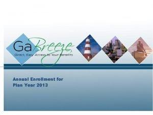 Annual Enrollment for Plan Year 2013 2013 Annual