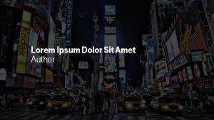 Lorem Ipsum Dolor Sit Amet Author Lorem Ipsum