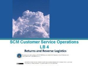 SCM Customer Service Operations LB 4 Returns and