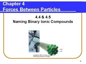 Chapter 4 Forces Between Particles 4 4 4