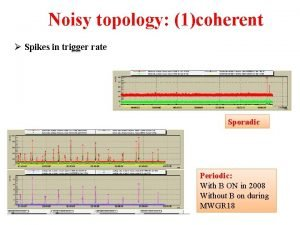 Noisy topology 1coherent Spikes in trigger rate Sporadic