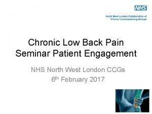 Chronic Low Back Pain Seminar Patient Engagement NHS