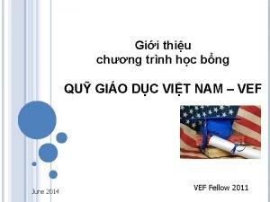Gii thiu chng trnh hc bng QU GIO