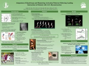 Adaptation of Quadriceps and Hamstring Activation Patterns Following