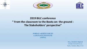 2019 BILC conference From the classroom to the