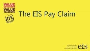 The EIS Pay Claim The EIS Pay Claim
