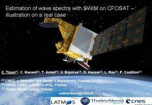 Estimation of wave spectra with SWIM on CFOSAT