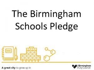 The Birmingham Schools Pledge Legislative Framework Equality Act