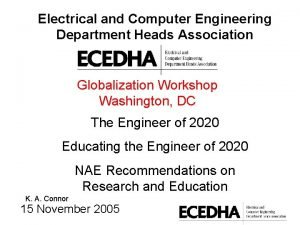 Electrical and Computer Engineering Department Heads Association Globalization