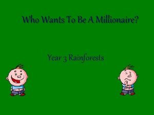Who Wants To Be A Millionaire Year 3