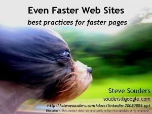 Even Faster Web Sites best practices for faster